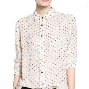 Printed Lightweight Stars Mango Long Sleeve Shirt